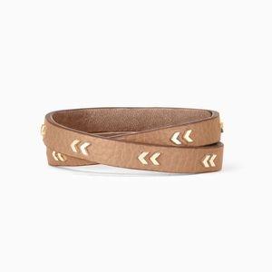 Stella and Dot Chevron Leather Wrap bracelet
